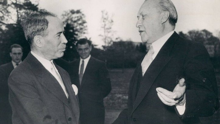 antoine_pinay_and_konrad_adenauer_1955