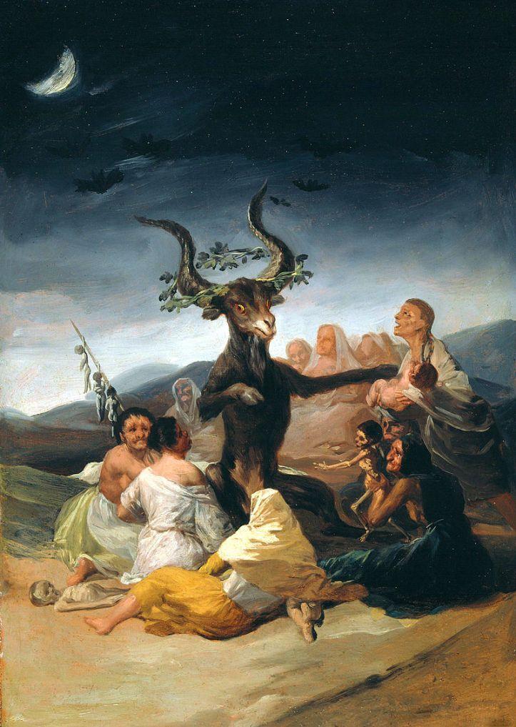 Le Sabbat des Sorcières (El Aquelarre) de Goya (1798)